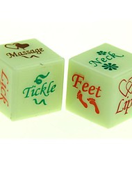 Glow-in-the-dark Dice Toy Lover (2 PCS)
