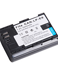 Digital Video Battery Replace Canon LP-E6 for Canon EOS 5D Mark II and More (7.4v, 2200 mAh)