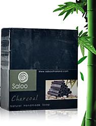 Таиланд Saboo Bamboo уголь Эфирное масло Мыло Отбеливание Увлажняющий Анти-акне 100г