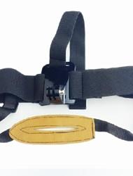 TOZ TZ-GP152 câmaras fixas Headband com Chin Band para GoPro Hero2 / Hero3 / 3 + - preto + amarelo-marrom