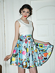 TS Vintage Print Swing Dress