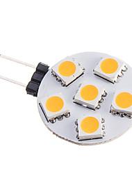 3W G4 LED Spot Lampen 6 SMD 5050 210 lm Warmes Weiß DC 12 V