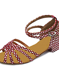 Damen Kunstleder-Tupfen Chunky Heel Tanzschuhe Latin / Ballroom Sandalen