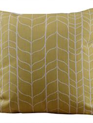 Coton/Lin Housse de coussin , Géométrique Rustique