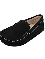 De cuero de los niños planos del talón de los zapatos de los holgazanes de Confort (más colores)