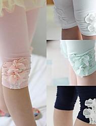 Girl's Pink/Black/White Leggings,Beaded
