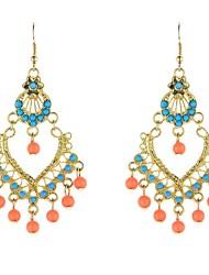 Earring Drop Earrings / Dangle Earrings Jewelry Women Bohemia Style Party / Daily / Casual Alloy / Acrylic / Resin 1 pair Blue / Orange