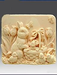 Кролик Shaped Выпекать Плесень, W8.1cm х L5.6cm х H3.3cm