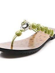 женская плоским пятки флип-флоп тапочки с горный хрусталь обувь (больше цветов)