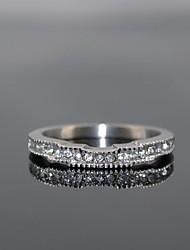 la forme de la couronne féminine de luxe briller cubes de pierres de zircone anneaux