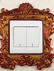 Luxury Palace Style Orange Light Switch Stickers