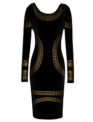 MS Black Sexy Slim Fit Unique Dress
