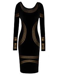 Платье MS черное сооблазнительное, силуэт по фигуре