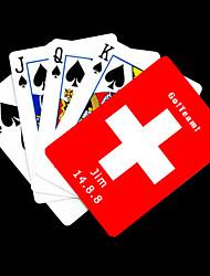 Personnalisé Red Flag cadeau de la Suisse Motif Carte de jeu