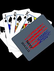 Cadeau personnalisé Gris Motif Étoiles Playing Card