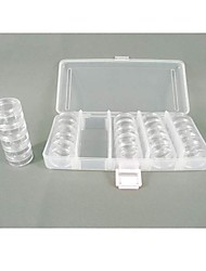 Circular  Plastic Transparent  Storage Case 25 Sets