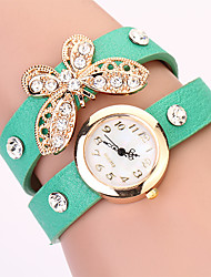 Koshi 2014 Feminina Bow Diamonade 2 Round Watch (verde)
