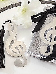 Cute Hollow Music Note With Tassels 8.8*3.6*1 Metal Bookmarks & Clips(Silver,1pc)