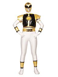 Power Ranger Dairanger Kiba Ranger Zentai Men's Cosplay Kostuum