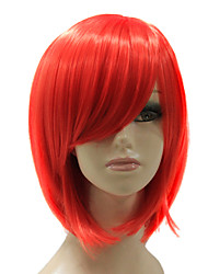 Capless Synthetic Red Short Bobo Straight Synthetic Hair Wig