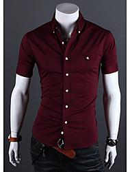 Tizeland Men's Casual Short Sleeves Shirt
