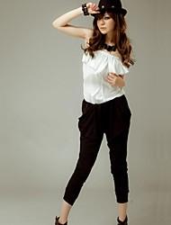 Women's Pants , Cotton Blends Micro-elastic Gray
