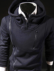 Simple Tops Hoodie Zipper de LiLuoKe hommes (S881Navy bleu)