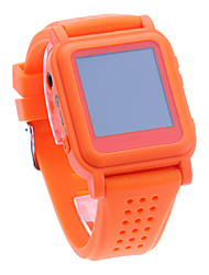 Mode Confortable MP4 pratique montre Smart Watch Player (Orange)