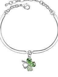 CSYG Frauen eleganter Schlenker Clover Kristall hochwertige Legierung Bracklet