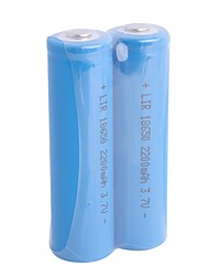LIR-18650 Rechargeable 3.7V 2200mAh LI-ION Batteries (2-Piece)