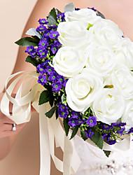 Nice Rose Design Round Shape Silk Bouquet
