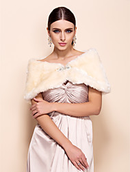 Party/Evening / Casual Faux Fur Fur Wraps Shawls Sleeveless