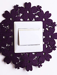 Paper Cut Round Lace Purple Light Switch Stickers