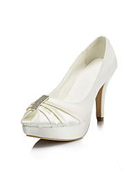 Women's Wedding Shoes Heels/Peep Toe/Platform Heels Wedding/Party & Evening Pink/Purple/Red/Ivory/White