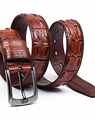 Мужская мода Крокодил Дизайн Верблюд кожаный пояс