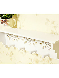 Korean Countryside Wall Mounted Storaging Shelf with Hollowed-out Roses Decorated