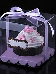 Прекрасный Корень ПВХ Кекс Обертка и коробки с лентой - Набор из 12 (больше цветов)