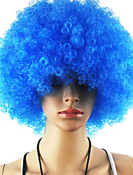 Black Afro Wig Fans Bulkness Cosplay Christmas Halloween Wig Light Blue Wig 1pc/lot