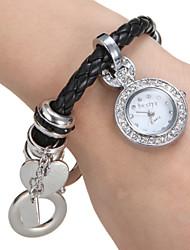 Mulheres Relógio de Moda Bracele Relógio Relógio de Pulso Quartzo Banda Preta marca