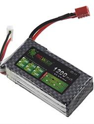 LION 11.1V 1200MAH 25C batterie Li-Po Pour RC (T Plug)