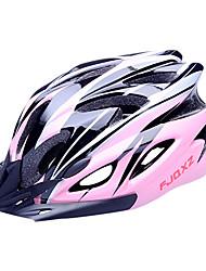 FJQXZ EPS + PC Pink Integralmente moldeado Casco de Ciclista (18 Vents)