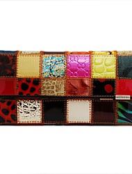 KIVI Leather Check Print Multi-Color Handbag