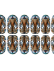 12PCS Tiger Motif Nail Art Stickers lumineux