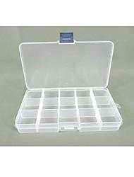 Plastique 15 compartiments mallette de rangement transparent
