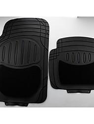 Heavy Duty All Weather Rubber Negro Mat 4 Pc Floor Pads Car Mats Delantero Trasero