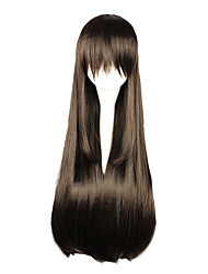 Cosplay Wigs Noragami Cosplay Brown Long Anime Cosplay Wigs 80 CM Heat Resistant Fiber Female