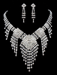 ME Vintage Luxury Austria Rhinestone Set Wedding Necklace And Earings Set T0003