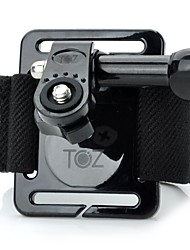 TOZ TZ-GP126 Elastic Nylon Fastener Tape Wrist Mount for GoPro Hero 3+ / 3 / 2 / 1 + Universal Cameras - Black