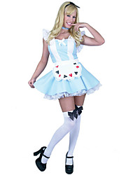 Sweet Girl Sky Blue Cotton Maid Uniform