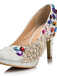Mujer Zapatos de boda Tacones/Plataforma Tacones Boda/Fiesta y Noche Plata